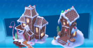 Gingerbread houses concept
