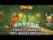Crash Bandicoot 4 - 100% Walkthrough - Toxic Tunnels - All Gems Perfect Relic