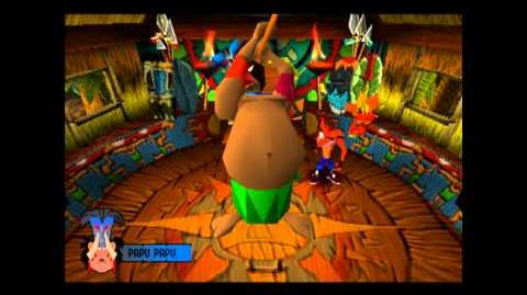 Papu Papu - Boss 1 - Crash Bandicoot - 100% Playthrough (Part 3)