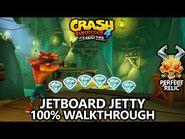 Crash Bandicoot 4 - 100% Walkthrough - Jetboard Jetty - All Gems Perfect Relic