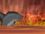 Shark in lava