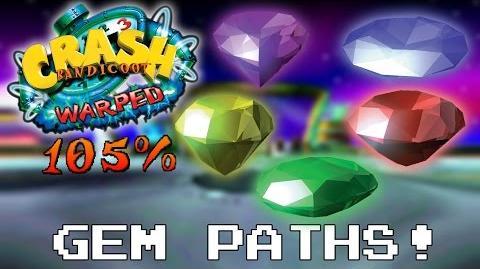 Crash Bandicoot 3 Warped - 105% - PART 10 - Gem Paths-0