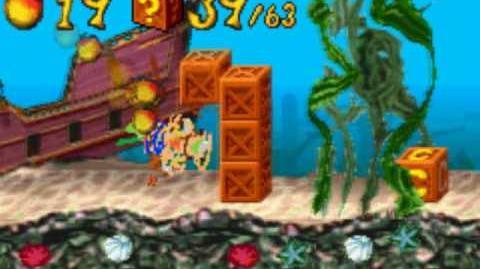 Crash Bandicoot XS The Huge Adventure Walkthrough - Shipwrecked Crystal, Clear Gem