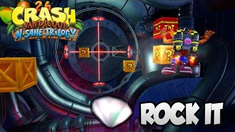 """Crash Bandicoot 2 - """"Rock It"""" 100% Clear Gem and All Boxes (PS4 N Sane Trilogy)-0"""