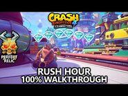 Crash Bandicoot 4 - 100% Walkthrough - Rush Hour - All Gems Perfect Relic