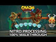 Crash Bandicoot 4 - 100% Walkthrough - Nitro Processing - All Gems Perfect Relic