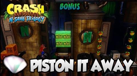 """Crash Bandicoot 2 - """"Piston It Away"""" 100% BOTH Clear Gems and All Boxes (PS4 N Sane Trilogy)"""