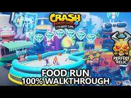 Crash Bandicoot 4 - 100% Walkthrough - Food Run- All Gems Perfect Relic