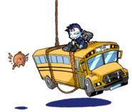 Rooftop rampage bus concept