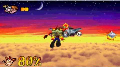 Crash Bandicoot The Huge Adventure N Gin Boss Fight