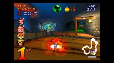 Dragon Mines - Trophy Race - Crash Team Racing - 101% Playthrough (Part 12)