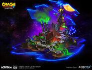 IAT cortex island map concept