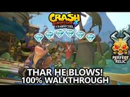 Crash Bandicoot 4 - 100% Walkthrough - Thar He Blows! - All Gems Perfect Relic