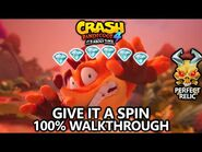 Crash Bandicoot 4 - 100% Walkthrough - Give It a Spin - All Gems Perfect Relic