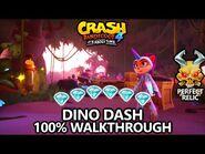 Crash Bandicoot 4 - 100% Walkthrough - Dino Dash - All Gems Perfect Relic