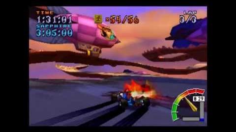Hot Air Skyway - Platinum Relic - Crash Team Racing - 101% Playthrough (Part 56)