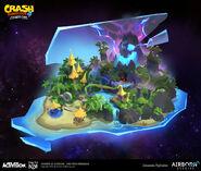 IAT n sanity island map concept