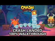 Crash Bandicoot 4 - 100% Walkthrough - Crash Landed - All Gems Perfect Relic