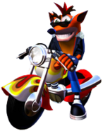 Crash Bandicoot 3 Warped Crash Bandicoot Motorcycle