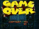 Tela de Game Over