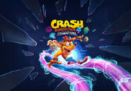 Crash bandicoot 4 it's about time cover art