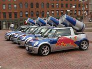 Red Bull Mini Coopers