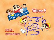 Shin Chan Volume 5 Main Menu