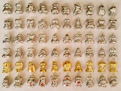 Lot of Gogos Crazy Bones Figure various series includes clear and metallic