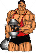 Stock-vector-illustration-of-bodybuilder-with-dumbbells-133106063