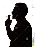 Smoking-man-portrait-cigarette-silhouette-studio-isolated-white-background-34174308
