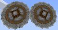 Crushing wheel pair