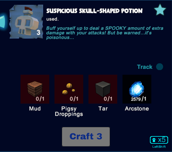 Suspicious Skull-Shaped Potion