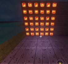 Creativerse Hardened Lava Inlay Wall glows now001.jpg