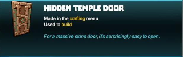 Hidden Temple Door