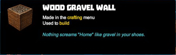 Wood Gravel Wall