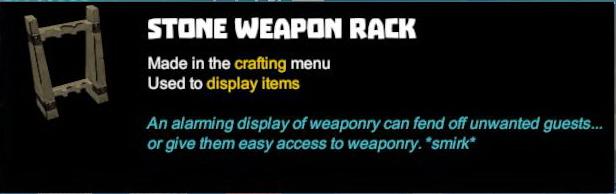 Stone Weapon Rack
