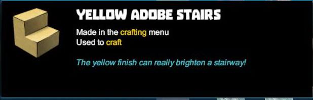 Yellow Adobe Stairs