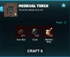 Creativerse R41 crafting recipes colossal castle medieval torch01.jpg