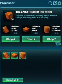 Creativerse processing orange block of goo 2018-12-21 18-26-03-23.jpg