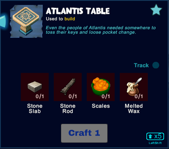 Atlantis Table