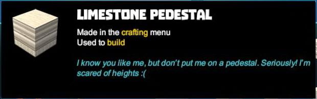 Limestone Pedestal