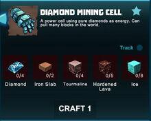 Creativerse R41 crafting recipes diamond mining cell01.jpg