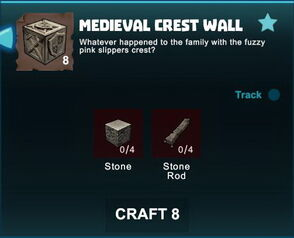 Creativerse R41 crafting recipes colossal castle medieval crest wall01.jpg