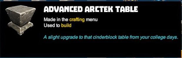 Advanced Arctek Table