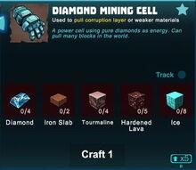 Creativerse diamond mining cell 2019-04-29 21-07-33-3208 crafting mining cell.jpg