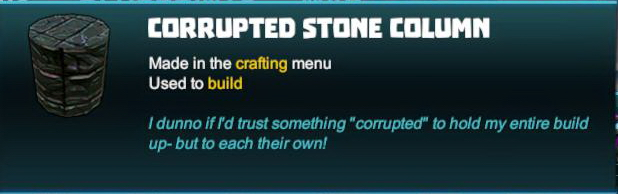 Corrupted Stone Column