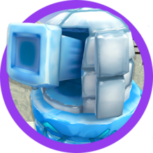 Creativerse Snowball turret.png