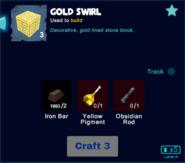 Gold swirl craft