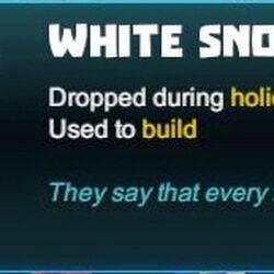White Snowflake Glass