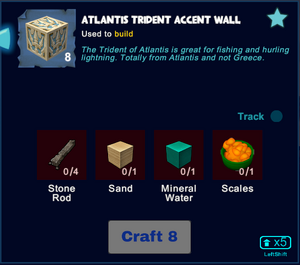 Atlantis trident accent wall craft.png